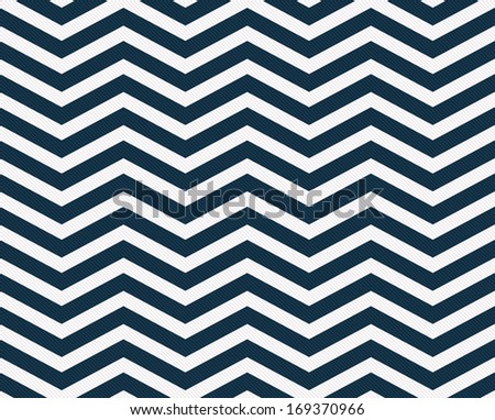 Navy Blue  and White Zigzag Textured Fabric Background that is seamless and repeats - stock photo