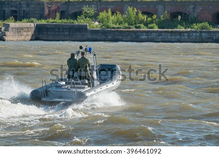 Navy patrol in Kronstadt