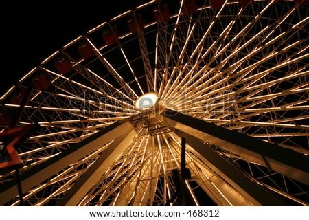 Navy Pier Ferris Wheel - stock photo