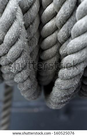 Navy rope - stock photo
