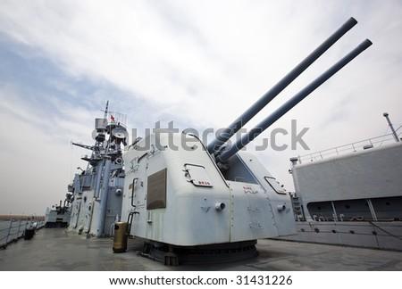navy ship - stock photo