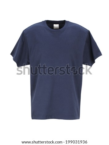 Navy T-Shirt /clipping path  - stock photo