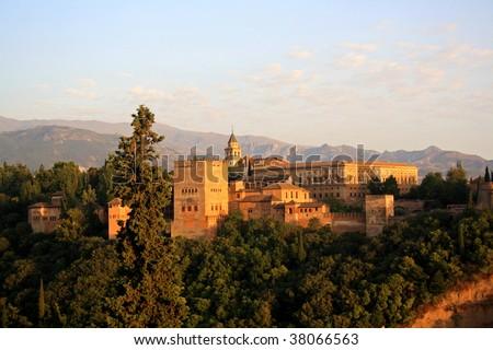 Nazari Palace of Alhambra - stock photo