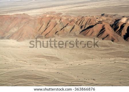 Nazca Lines, Aerial View, Peru - stock photo