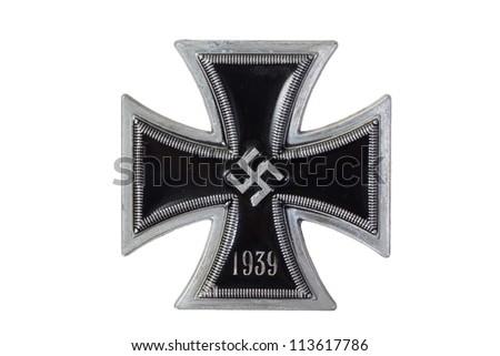 nazi german medal Iron Cross - stock photo