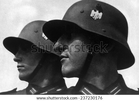 Nazi Germany, The Wehrmacht (armed forces), 1935. - stock photo