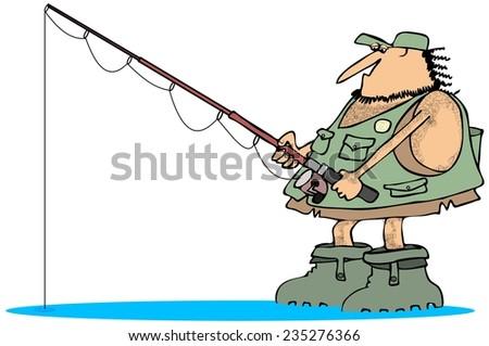 Neanderthal fisherman - stock photo