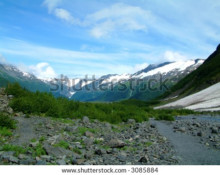 Near Portage Glacier in Alaska - stock photo