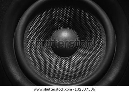 Nearfield speaker monitor cone - stock photo