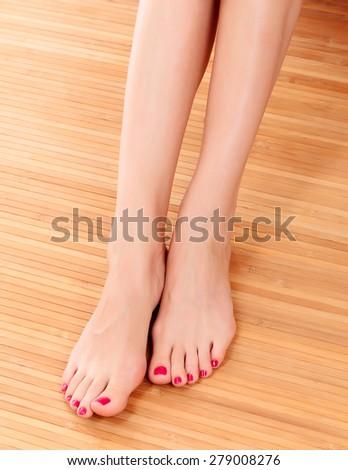 Neat female legs  - stock photo