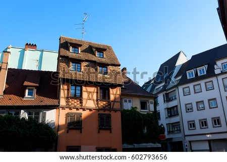 Picturesque District Petite France Strasbourg Houses Stock Photo ...