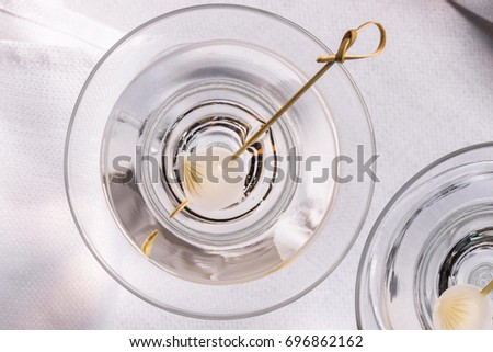 neat martini pearl onion garnish stock photo royalty free