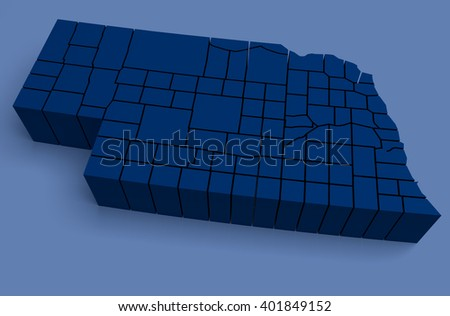 Nebraska - 3D Illustration