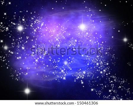 nebula  - stock photo