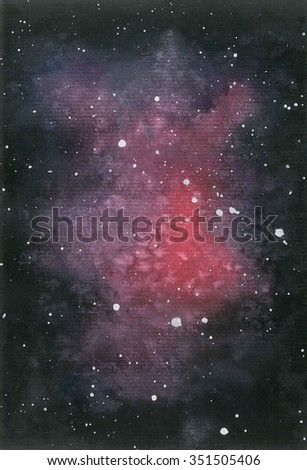 Nebula abstract in watercolor