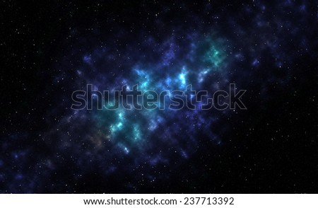 nebula galaxy with stars