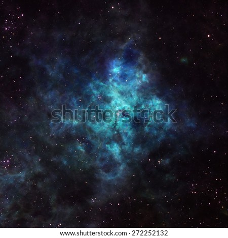 Nebula in outer space - stock photo