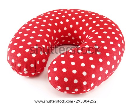 Neck Pillow on white background - stock photo