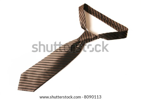 Neck tie isolated on the white background - stock photo