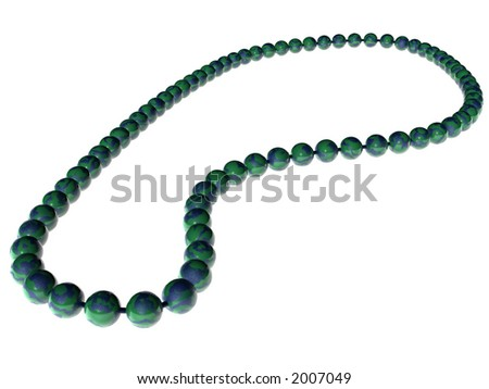 Necklace - 3D - stock photo