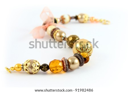necklace in fashion and beauty concept – selective focus - stock photo