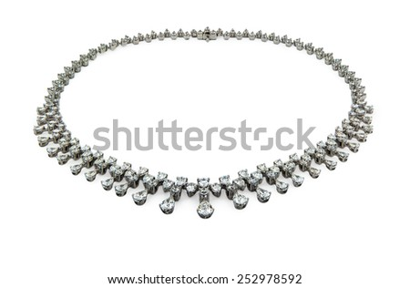 Necklace isoated on a white background