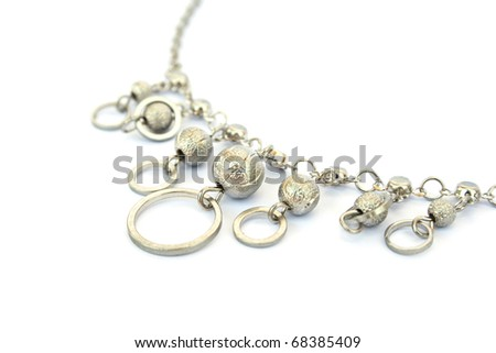 Necklace isolated on white background.