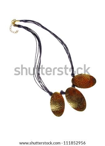 Necklace, jewelery studio isolated photo - stock photo