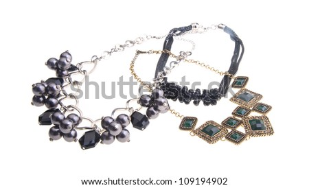 necklace, necklace on the background. - stock photo