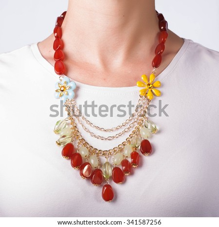 Necklace On Neck