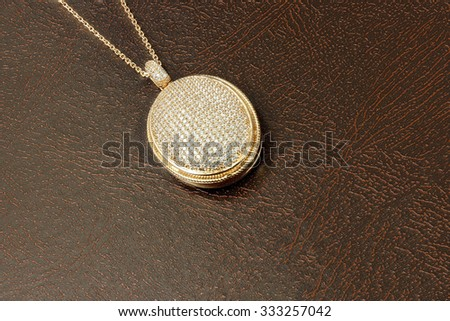 Necklace with diamonds - stock photo