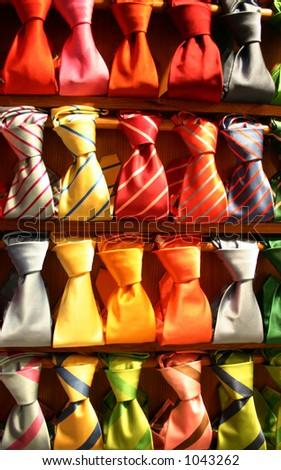 Neckties of colors - stock photo