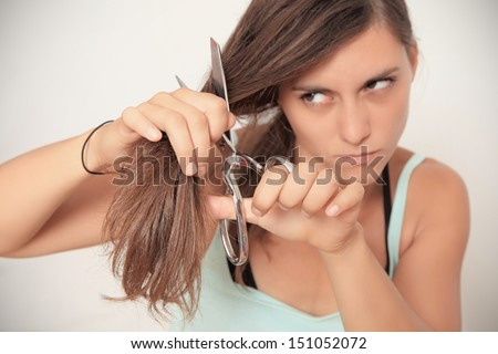 need a hair cut? - stock photo