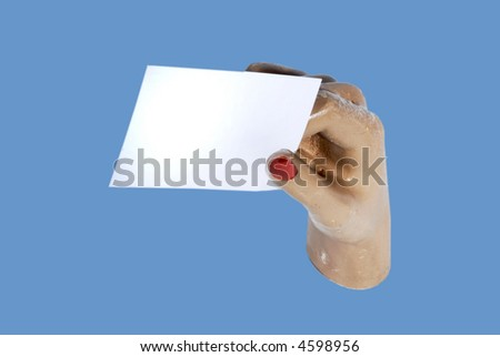 Need a hand - business concept -with clipping path - stock photo