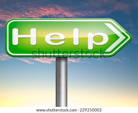 need help or wanted helping hand assistance please or support desk  - stock photo