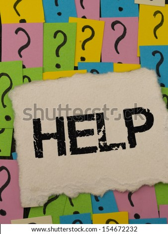 need HELP to solve many problems - stock photo