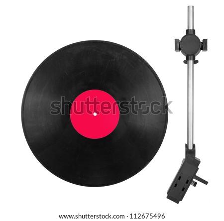 Needle head and disc - stock photo