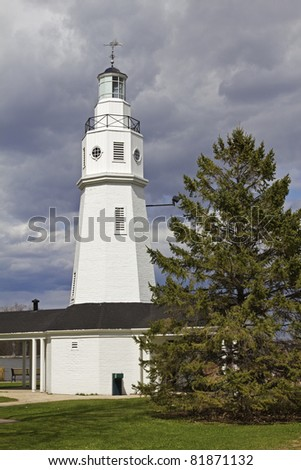Neenah Lighthouse by Lake Winnebago in Wisconsin