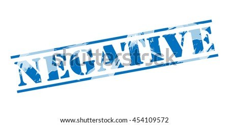 negative blue stamp on white background - stock photo