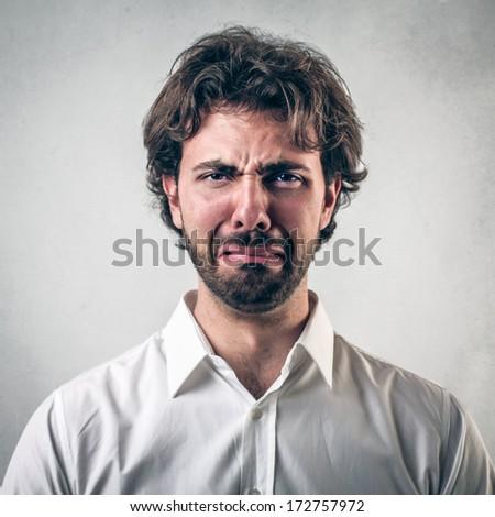 negative man - stock photo