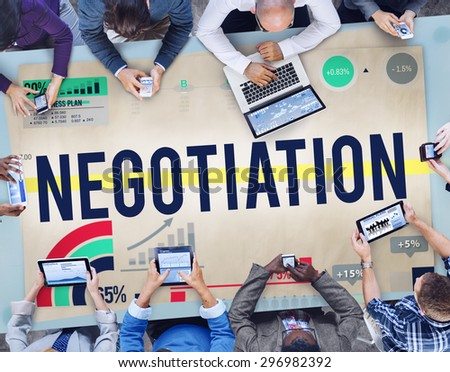 Negotiation Benefit Contract Cooperation Agreement Concept - stock photo