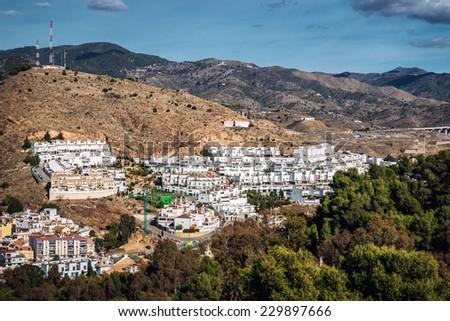 Neighborhood in Malaga. Andalusia, Spain - stock photo