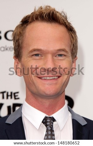"Neil Patrick Harris at the ""The Smurfs 2"" Los Angeles Premiere, Village Theater, Westwood, CA 07-28-13 - stock photo"