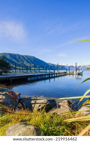 Nelson Lakes National Park, New Zealand - stock photo