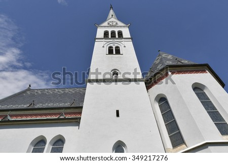 Neo Gothic Parish Church Of Saint Martin At Bled Lake In Slovenia