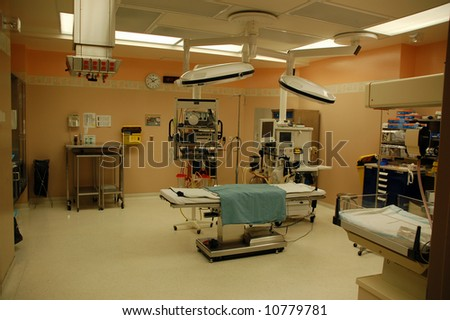 Neo-natal operating room - stock photo
