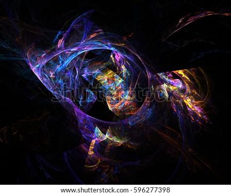 Neon 8 Abstract Fractal Background Wallpaper Light Art