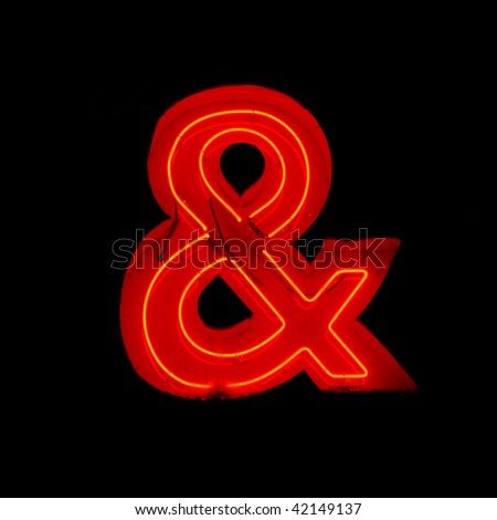 neon ampersand - stock photo