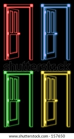 neon door & Neon Door Stock Illustration 157650 - Shutterstock Pezcame.Com