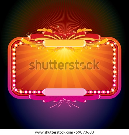 Neon glowing sign for your greeting message (id=57934846 vector version) - stock photo